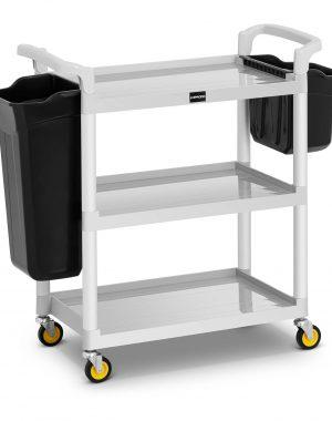 Hotelový servírovací vozík - 2 plastové nádoby - 150 kg UNICLEAN 150 - 1