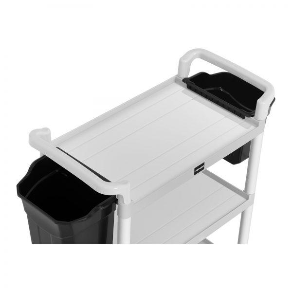 Hotelový servírovací vozík - 2 plastové nádoby - 150 kg UNICLEAN 150 - 2