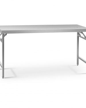 Skladací pracovný stôl - 180 x 60 cm - nehrdzavejúca oceľ | RCAT-180/60K