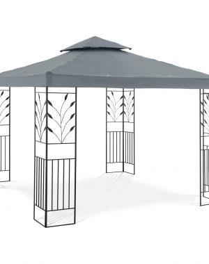 Záhradný altánok - ornament - šedý | UNI_PERGOLA_3X3T