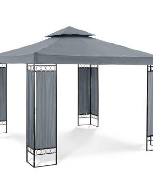 Záhradný altánok - štvorcový - tmavo šedý | UNI_PERGOLA_3X3TF