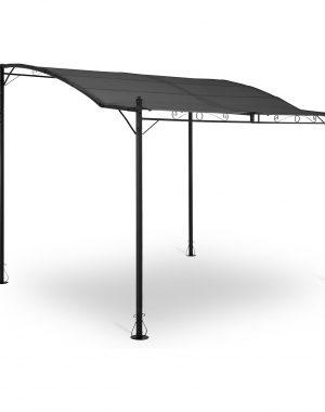 Záhradný prístrešok - pergola - 2,6 x 3 x 2,5 m - tmavo šedá | UNI_GAZEBO_ 3X2.5T