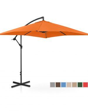 Bočný záhradný slnečník - 250 x 250 cm - oranžový | UNI_UMBRELLA_SQ250OR