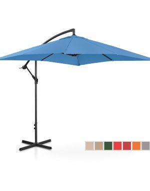 Bočný záhradný slnečník - 250 x 250 cm - modrý | UNI_UMBRELLA_SQ250BL