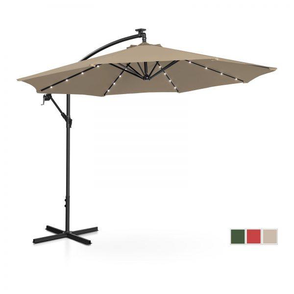 Závesný záhradný slnečník - Ø300 cm - béžový - LED | UNI_UMBRELLA_R300TAL 10250083-1.jpg