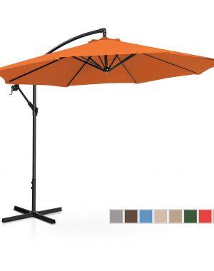 Bočný záhradný slnečník - Ø300 cm - oranžový | UNI_UMBRELLA_R300OR