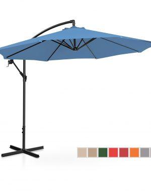 Závesný záhradný slnečník - Ø300 cm - modrý | UNI_UMBRELLA_R300BL 10250090-1.jpg