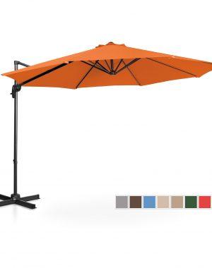 Bočný záhradný slnečník - Ø300 cm - oranžový | UNI_UMBRELLA_2R300OR