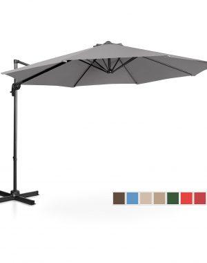 Bočný záhradný slnečník - Ø300 cm - tmavo šedá | UNI_UMBRELLA_2R300DG