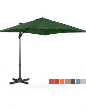 Bočný záhradný slnečník - otočný - 250 x 250 cm - zelený | UNI_UMBRELLA_2SQ250GR