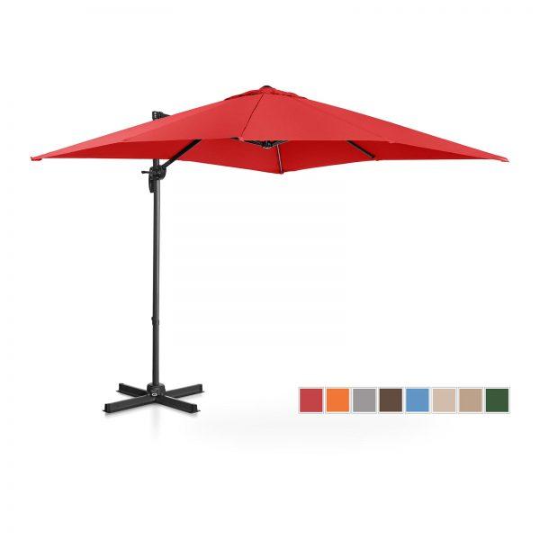 Bočný záhradný slnečník - otočný - 250 x 250 cm - červený | UNI_UMBRELLA_2SQ250RE