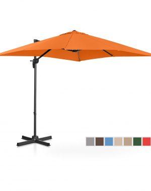 Bočný záhradný slnečník - otočný - 250 x 250 cm - oranžový | UNI_UMBRELLA_2SQ250OR