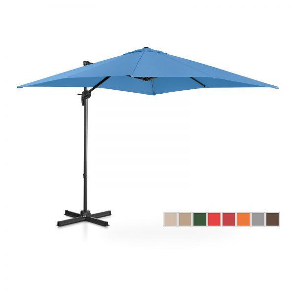 Bočný záhradný slnečník - otočný - 250 x 250 cm - modrý | UNI_UMBRELLA_2SQ250BL