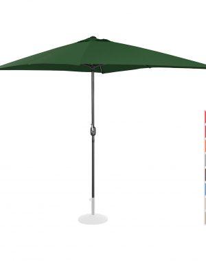 Stojaci záhradný slnečník - 200 x 300 cm - zelený | UNI_UMBRELLA_SQ2030GR