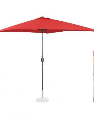 Stojaci záhradný slnečník - 200 x 300 cm - červený | UNI_UMBRELLA_SQ2030RE