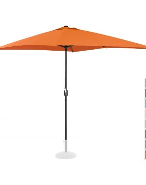 Stojaci záhradný slnečník - 200 x 300 cm - oranžový | UNI_UMBRELLA_SQ2030OR
