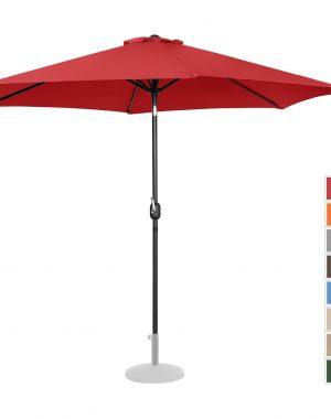 Záhradný slnečník - Ø300 cm - červený   UNI_UMBRELLA_TR300RE