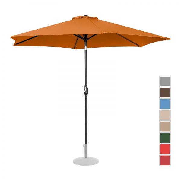 Stojaci záhradný slnečník - Ø300 cm - oranžový | UNI_UMBRELLA_TR300OR
