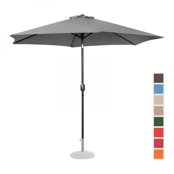 Stojaci záhradný slnečník - Ø300 cm - tmavo šedá | UNI_UMBRELLA_TR300DG