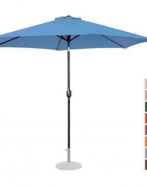 Stojaci záhradný slnečník - Ø300 cm - modrý | UNI_UMBRELLA_TR300BL