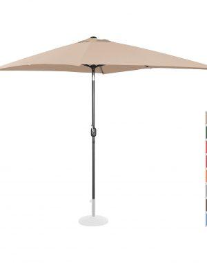 Stojaci záhradný dáždnik - 200 x 300 cm - naklonený - krém | UNI_UMBRELLA_TSQ2030CR