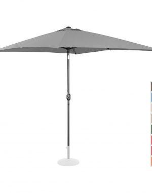 Stojací záhradný slnečník - 200 x 300 cm - naklonený - tmavo šedý | UNI_UMBRELLA_TSQ2030DG