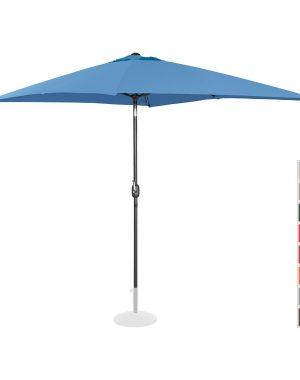 Stojaci záhradný slnečník - 200 x 300 cm - naklonený - modrý | UNI_UMBRELLA_TSQ2030BL