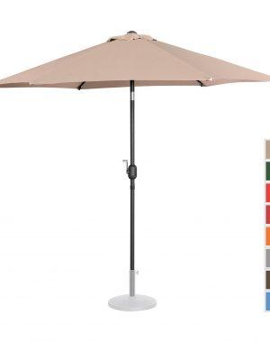 Záhradný dáždnik - Ø270 cm - krémový   UNI_UMBRELLA_R270CR 10250140-1.jpg
