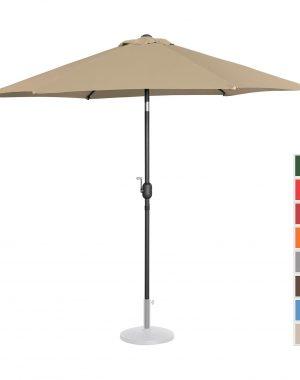 Záhradný dáždnik - Ø270 cm - béžový   UNI_UMBRELLA_R270TA 10250141-1.jpg