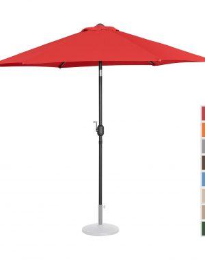 Záhradný dáždnik - Ø270 cm - červený   UNI_UMBRELLA_R270RE 10250143-1.jpg