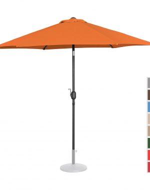 Stojaci záhradný slnečník - Ø270 cm - oranžový | UNI_UMBRELLA_R270OR 10250145-1.jpg