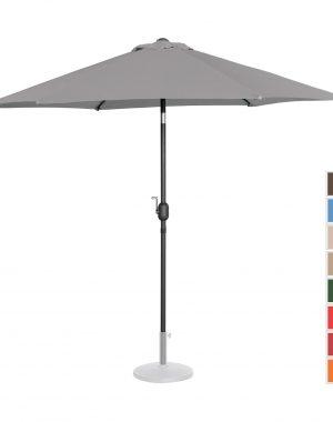 Stojaci záhradný slnečník - Ø270 cm - tmavo šedá | UNI_UMBRELLA_R270DG 10250146-1.jpg