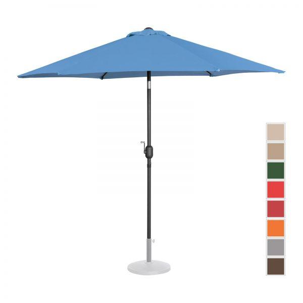 Stojaci záhradný slnečník - Ø270 cm - modrý | UNI_UMBRELLA_R270BL 10250148-1.jpg