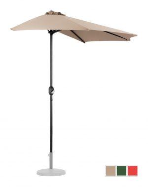 Polkruhový záhradný slnečník - 270 x 135 cm - krém | UNI_HALFUMBRELLA_R300CR 10250153-1.jpg