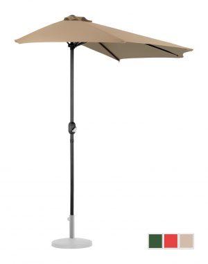 Polkruhový záhradný slnečník - 270 x 135 cm - béžový | UNI_HALFUMBRELLA_R300TA 10250154-1.jpg
