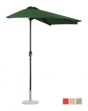 Polkruhový záhradný slnečník - 270 x 135 cm - zelený | UNI_HALFUMBRELLA_R300GR 10250155-1.jpg