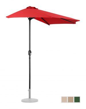 Polkruhový záhradný slnečník - 270 x 135 cm - červený | UNI_HALFUMBRELLA_R300RE 10250156-1.jpg