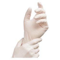 Nepúdrované latexové rukavice