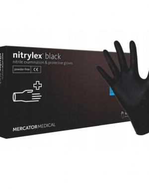 Nitrilové rukavice - čierne | veľkosť M - 100ks
