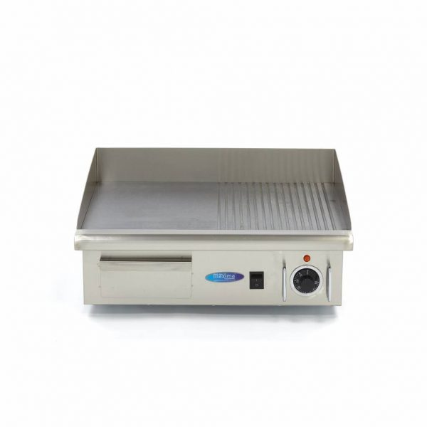Elektrická grilovacia doska - 55cm - 3kW - hladká ryhovaná | MAXIMA 09300072 - 2