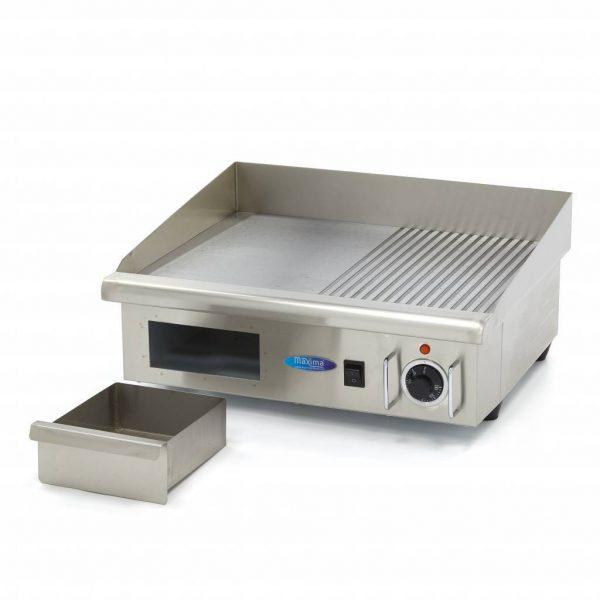 Elektrická grilovacia doska - 55cm - 3kW - hladká ryhovaná | MAXIMA 09300072 - 5