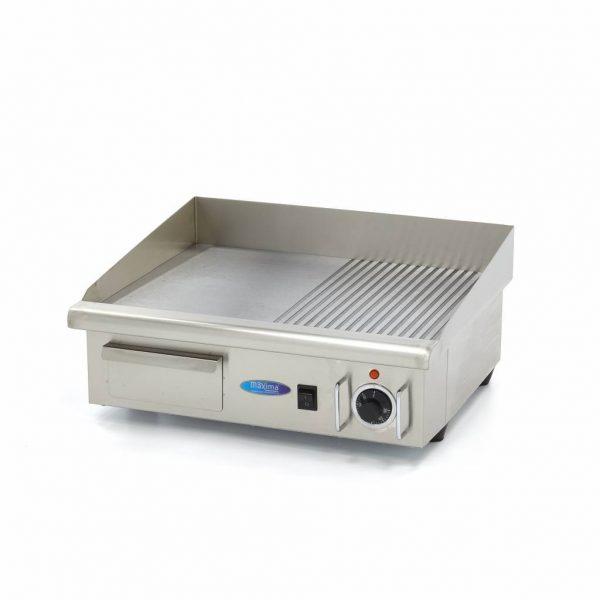 Elektrická grilovacia doska - 55cm - 3kW - hladká ryhovaná | MAXIMA 09300072
