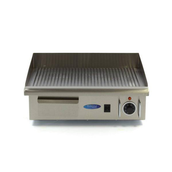 Elektrická grilovacia doska - 55cm - 3kW - ryhovaná | MAXIMA 09300070 - 2