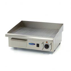 Elektrická grilovacia doska - 55cm - 3kW - ryhovaná | MAXIMA 09300070