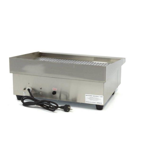 Elektrická grilovacia doska - 55cm - 3kW - ryhovaná | MAXIMA 09300070 - 4