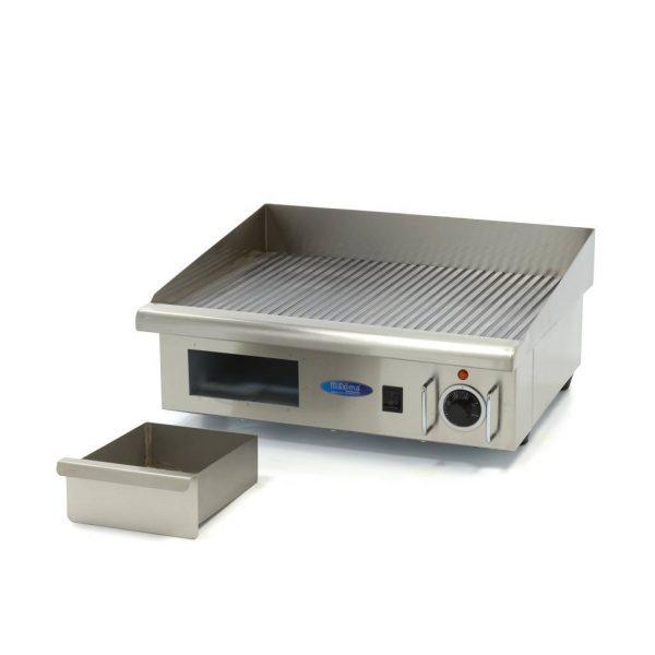 Elektrická grilovacia doska - 55cm - 3kW - ryhovaná | MAXIMA 09300070 - 5