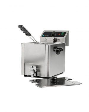 Elektrická fritéza - 1x8 l + výpustný ventil | HKN-FT8N