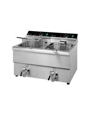 Elektrická fritéza s kohútikom - 2x12 l | HKN-FT1212N
