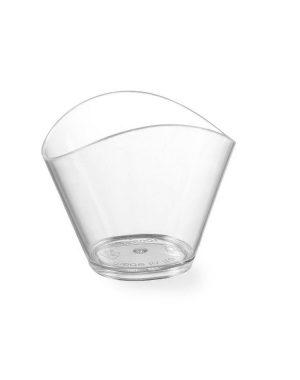 Plastové cukrárske kelímky - 80 ml - 100 ks | Hendi 560310