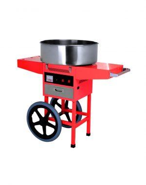 Stroj na cukrovú vatu s vozíkom - 900 W | HKN-C2-T
